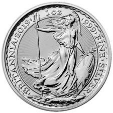 2019 U.K. 2 Pound Silver Britannia .999 1 oz Brilliant Uncirculated