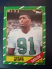 Reggie White 1986 Topps Football Card PHILADELPHIA EAGLES ROOKIE.