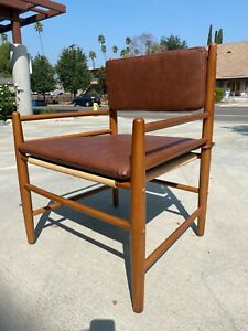 Set of 2 Layton faux leather chairs- Threshold
