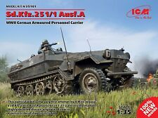 ICM 1/35 Sd.Kfz.251/1 Ausf. A WWII German Armoured Personnel Carrier nº 35101