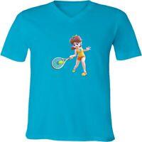 Nintendo Mario Princess Daisy Tennis Unisex Men Women V-Neck Sport Game T-Shirt