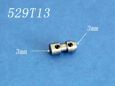 Steel  Flex collet coupler for 3mm motor shaft and 3mm flex cable 529T13