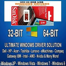 Automatic Windows Drivers Software for XP Vista 7 8 8.1 10 on 8gb USB Stick