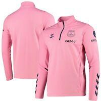 Hummel Mens Everton Football Training Half Zip Sweat Top Jumper - Pink