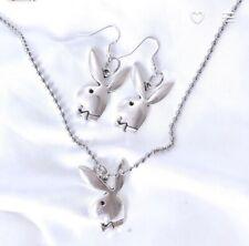 """23"""" Playboy Bunny Necklace/ Earrings Gift Set"""