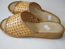 Ladies leather slippers  size 6