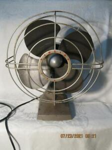 """Vintage Montgomery Ward Airline Star Oscillating Fan 12"""" Steampunk Table Top"""