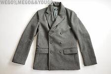 A.P.C. APC Light Gray Peacoat Wool Jacket size Small S