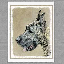 6 Great Dane Dog Brindle Blank Art Note Greeting Cards