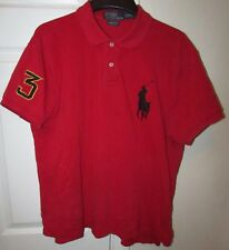 Polo Ralph Lauren #3 Big Horse Logo Polo Shirt Red Adult Large