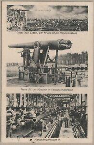 AK Essen - Krupp´sche Kanonenstadt - Kanonenwerkstatt II - Verschwindlafette