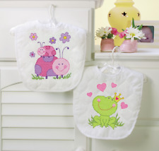 Dimensions - Stamped Cross Stitch Kit - Baby Bibs - Fairy - D70-73542