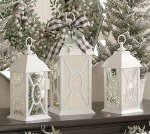 "22"" Illuminated Indoor/Outdoor Vintage Mercury Glass Lantern by Valerie White"