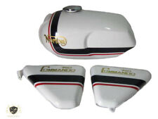 NORTON COMMANDO ROADSTER WHITE PAINTED PETROL TANK WITH SIDE PANEL|Fit For