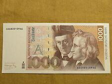 1000 DM Schein Deutsche Mark