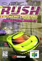 San Francisco Rush Extreme Racing - Authentic Nintendo 64 (N64) Manual