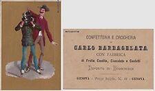 # GENOVA: FABBRICA CONFETTERIA E CIOCCOLATO C. BARBAGELATA - FIGURINA LITOGR..