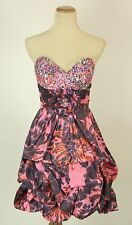 New Jovani Pink Strapless Formal Cruise $400 Homecoming Dress Size 2 Bubble Prom