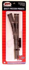 """HO Scale Atlas 544 Code 83 22"""" Radius Manual Left-Hand Snap-Switch Turnout"""