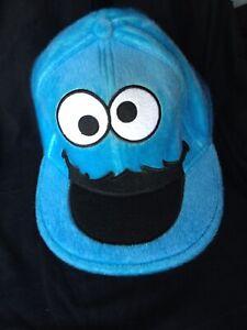 SESAME STREET Cookie Monster SZ 7-3/8 Blue Hat Baseball Cap