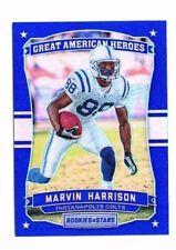 Marvin Harrison 2016 Panini Rookies & Stars, Grande American Héros, (Bleu), #5