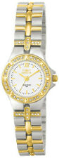 Invicta 0133 Women's Round White Analog Clear Stone Roman Numeral Watch
