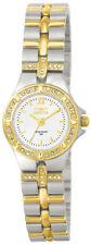 Invicta 0133 Women's Round White Analog Clear Stone Roman Numeral Watch