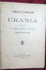 Libro Illustrato Urania Camille Flammarion Musa Astronomia e Geometria 1890