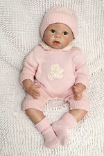 22'' Handmade Lifelike Baby Girl Silicone Vinyl Reborn Newborn Doll +Clothes S10