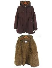 Odd Molly 738a Faux Fur Fitted Brown Parka Winter Jacket Coat size 2