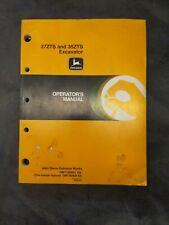 John Deere 27zts And 35 Zts Excavator Operators Manual