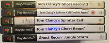 PS2 TOM CLANCY GAMES BUNDLE SPLINTER CELL DOUBLE AGENT GHOST RECON 1 2 JUNGLE ST