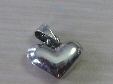 Estate Sterling Silver Small Puffy Heart Charm High Polish