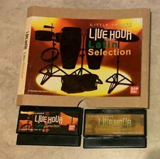 LOT 2 Bandai Little Jammer Cartridges Live Hour High Note & Latin Selection