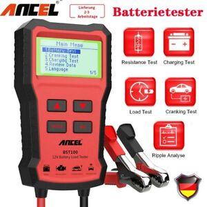 BST100 12V Auto Batterietester Digital PKW OBD KFZ Diagnosegerät Akku Testgerät