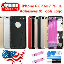 Back Glass Housing Battery Cover Frame Assembly For iPhone 6 6S 7 7Plus & Logo