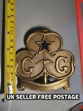 More details for vintage girl guides scout solid cast brass flag pole staff top topper end finial