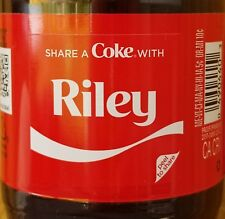 Summer 2018 Share A Coke With Riley 20 oz Coca Cola Collectible Bottle