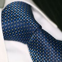 Krawatte Krawatten Schlips Binder de Luxe Tie cravate 150 blau