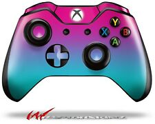 Smooth Fades Neon Teal Hot Pink Skin for XBOX One Controller