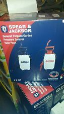 Twin Pack Spear & Jackson 5 litre Pump Action Pressure Sprayer 5LPAPSTWIN
