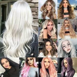 Fashion Women Straight/Wavy Cosplay Wig Brazilian Lace Glueless Human Hair Wigs