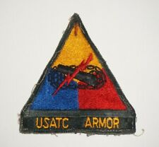 USATC Armor attached tab Armored Vietnam Era Cut Edge Patch US Army P0925