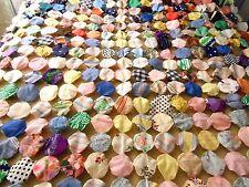 Vintage colorful yo yo quilt 80X41 hand stitched