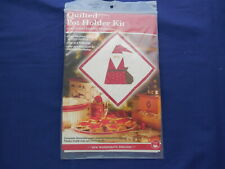 Quilted Pot Holder Kit for Paper Piecing Christmas Santa