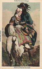 Homme et Femme de Pont l Abbe French France Folklore Costume Vintage Postcard