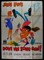 Manifesto Dove Vai Son Problema Jerry Lewis Frank Tashlin Jill st John Cine M64