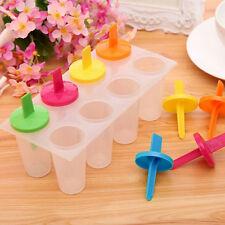 8 Freezer Ice Pop Maker Mold Popsicle Frozen Yogurt Ice Cream Pops Cake Treats