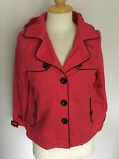 Lipsy Ladies Short Hooded Mac Style Coat / Jacket Size 8. Great Condition.