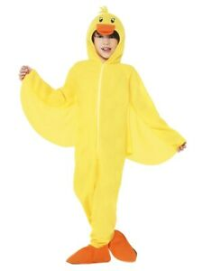 Smiffys Kids Yellow Duck Hooded Jumpsuit Child Halloween Costume Small 4-6